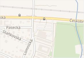 Českobrodská v obci Praha - mapa ulice