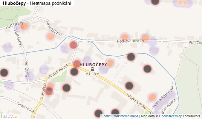 Mapa Hlubočepy - Firmy v části obce.