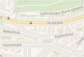 Husitská v obci Praha - mapa ulice