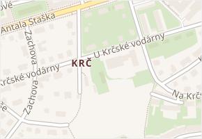 Krč v obci Praha - mapa části obce