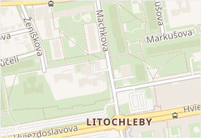 Machkova v obci Praha - mapa ulice