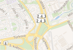 Nad pahorkem v obci Praha - mapa ulice