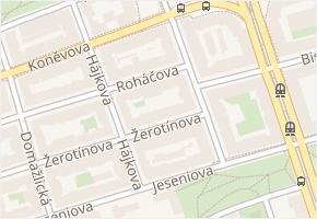 Praha 3 v obci Praha - mapa městské části