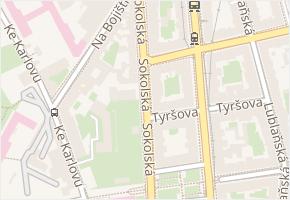 Sokolská v obci Praha - mapa ulice