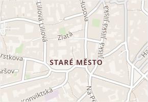 Staré Město v obci Praha - mapa části obce