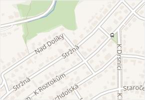 Suchdol v obci Praha - mapa části obce