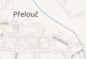 Masarykovo náměstí v obci Přelouč - mapa ulice