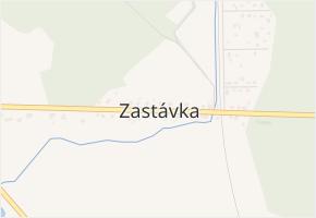 Zastávka v obci Přeštice - mapa části obce
