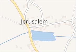 Jerusalem v obci Příbram - mapa části obce