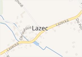 Lazec v obci Příbram - mapa části obce