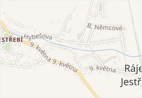 Vrchlického v obci Rájec-Jestřebí - mapa ulice