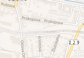 Prokopova v obci Rakovník - mapa ulice