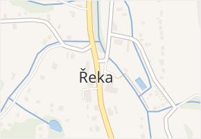 Řeka v obci Řeka - mapa části obce