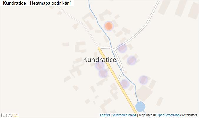 Mapa Kundratice - Firmy v části obce.