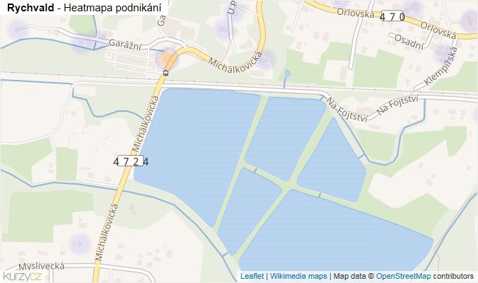 Mapa Rychvald - Firmy v obci.