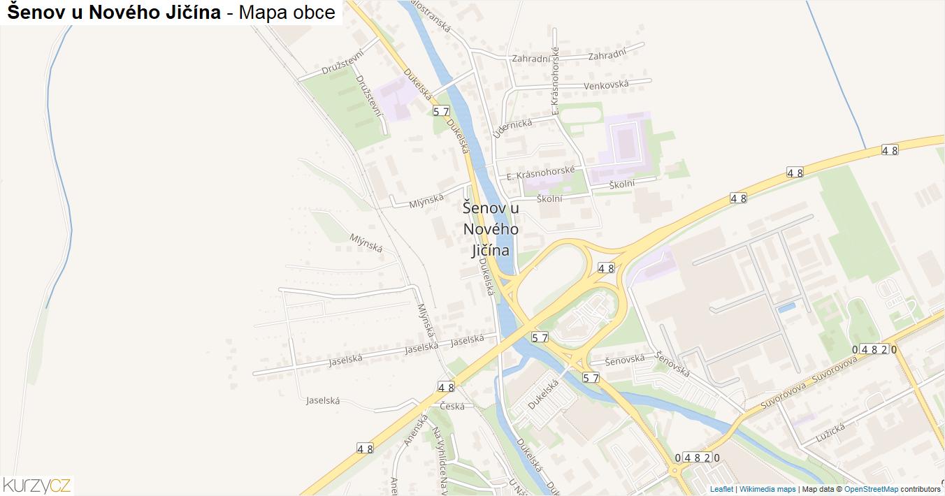 Šenov u Nového Jičína - mapa obce
