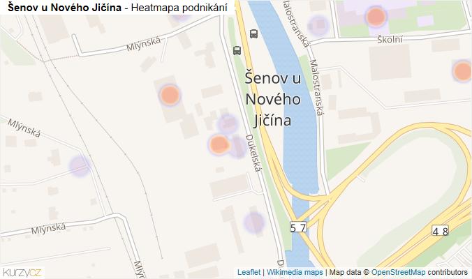 Mapa Šenov u Nového Jičína - Firmy v části obce.