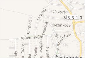 Trnková v obci Šestajovice - mapa ulice