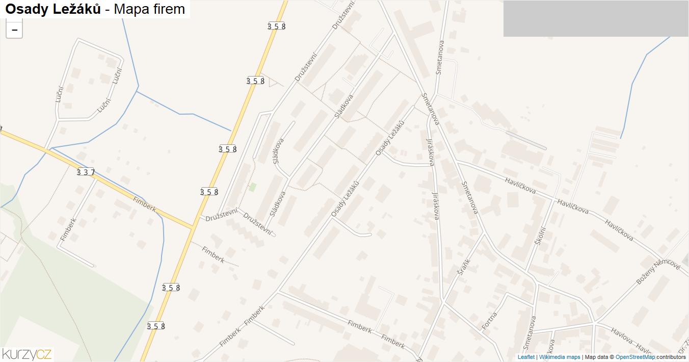 Osady Ležáků - mapa firem