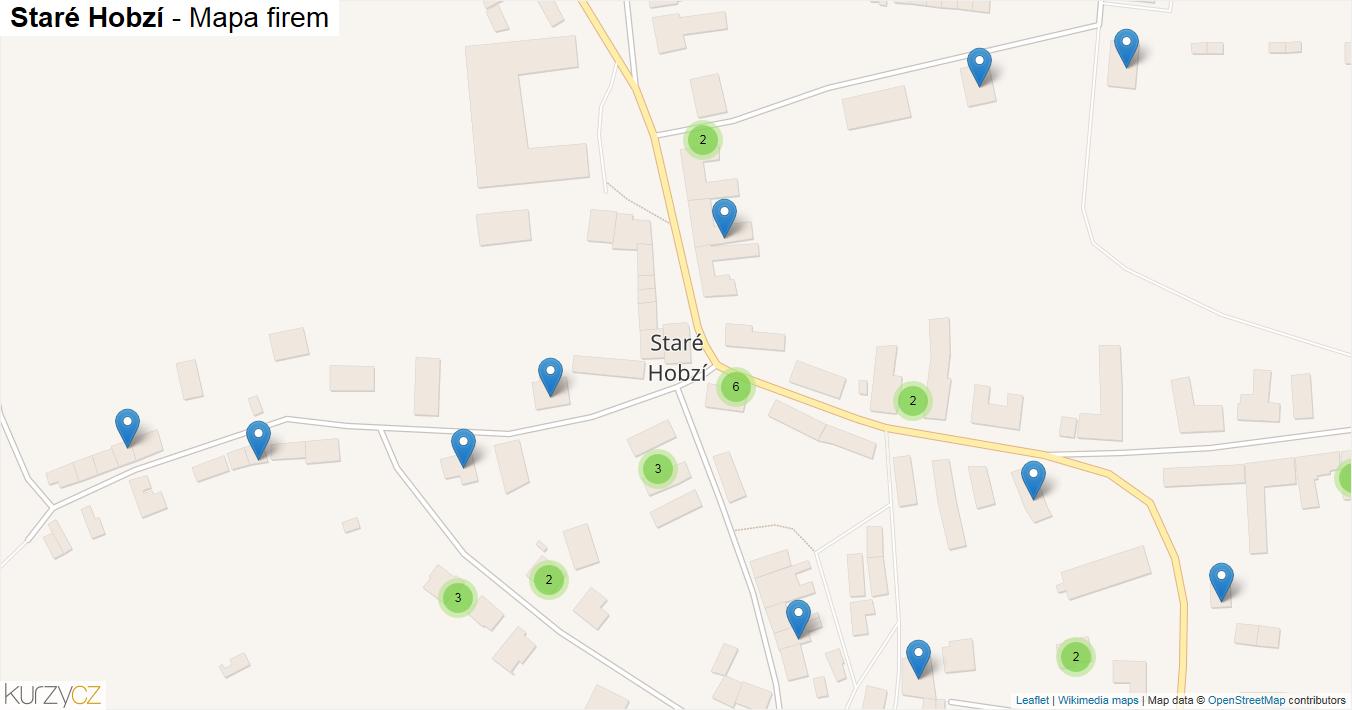 Staré Hobzí - mapa firem