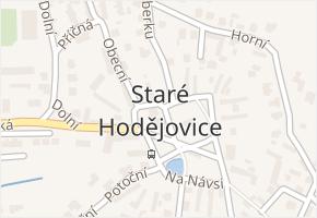 Staré Hodějovice v obci Staré Hodějovice - mapa části obce