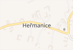 Heřmanice v obci Starý Jičín - mapa části obce