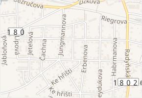 Sladkovského v obci Starý Plzenec - mapa ulice