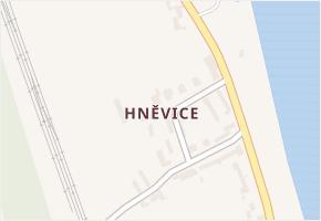 Hněvice v obci Štětí - mapa části obce