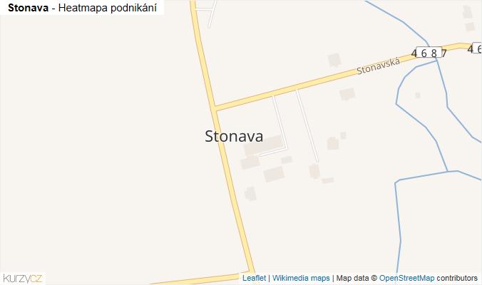Mapa Stonava - Firmy v části obce.