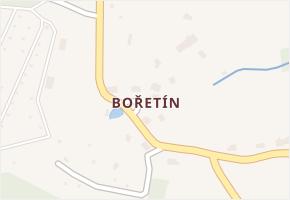 Bořetín v obci Stružnice - mapa části obce