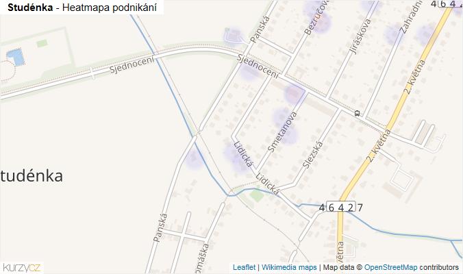 Mapa Studénka - Firmy v obci.