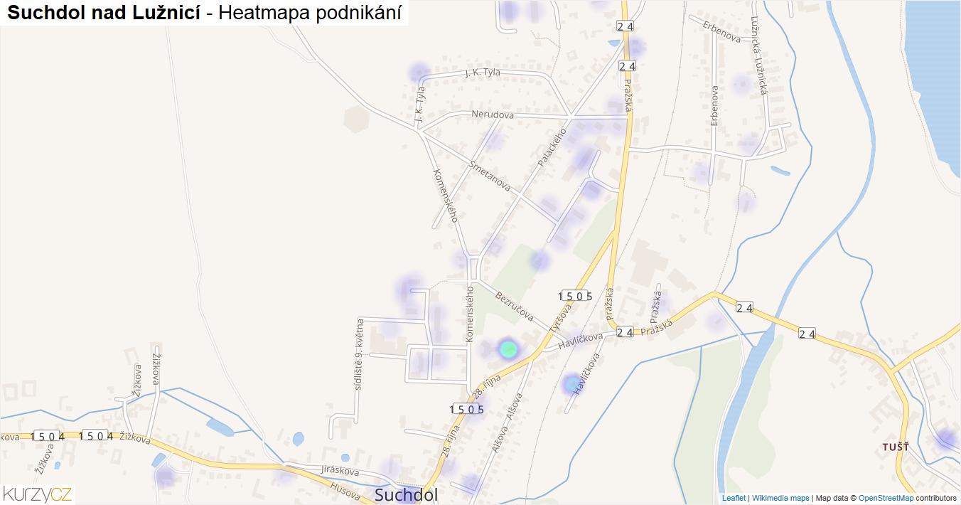 Suchdol nad Lužnicí - mapa podnikání