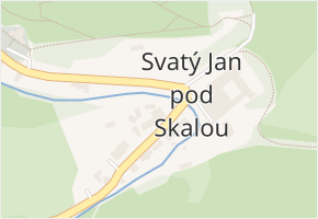 Svatý Jan pod Skalou v obci Svatý Jan pod Skalou - mapa části obce
