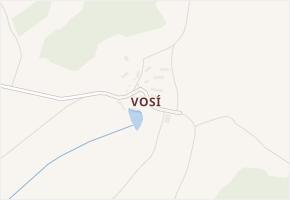 Vosí v obci Švihov - mapa části obce