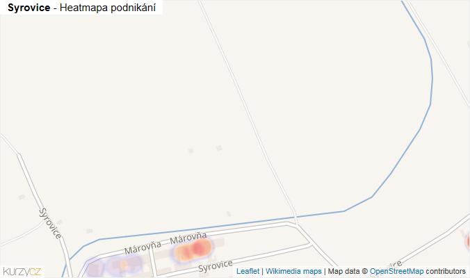 Mapa Syrovice - Firmy v obci.