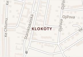 Klokoty v obci Tábor - mapa části obce
