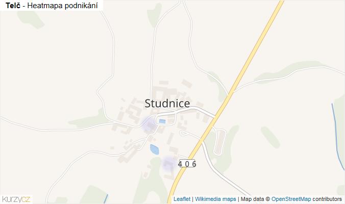 Mapa Telč - Firmy v obci.