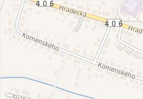 Telč-Staré Město v obci Telč - mapa části obce