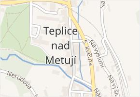 Teplice nad Metují v obci Teplice nad Metují - mapa části obce