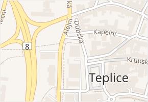 Dubská v obci Teplice - mapa ulice