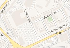Seifertova v obci Teplice - mapa ulice