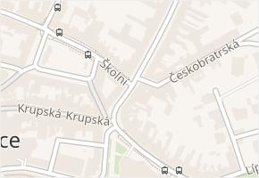 Školní v obci Teplice - mapa ulice