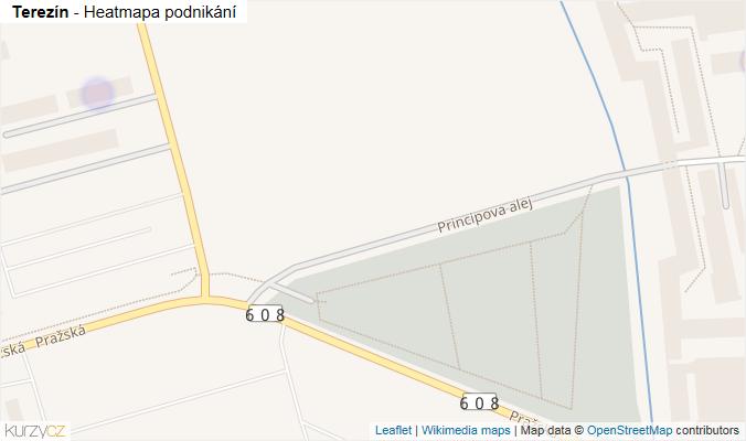 Mapa Terezín - Firmy v obci.