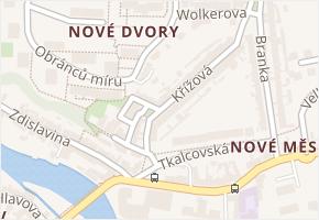 Křížová v obci Třebíč - mapa ulice