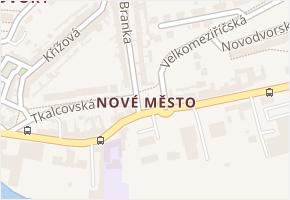 Nové Město v obci Třebíč - mapa části obce