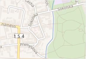Chelčického v obci Třeboň - mapa ulice