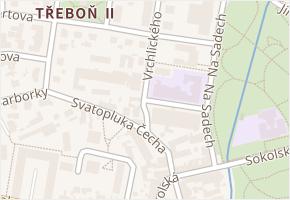 Vrchlického v obci Třeboň - mapa ulice
