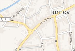 Hluboká v obci Turnov - mapa ulice