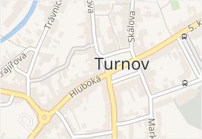 Turnov v obci Turnov - mapa části obce