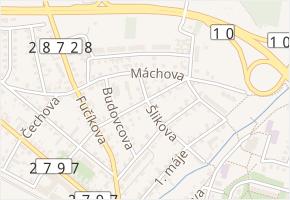 Vrchlického v obci Turnov - mapa ulice